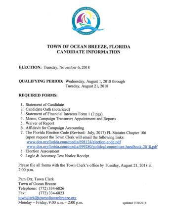 Qualifying Documents - Mayor